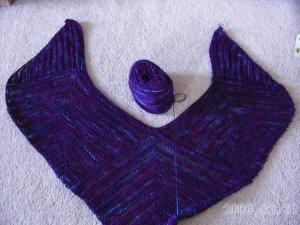 Modular shawl w yarn