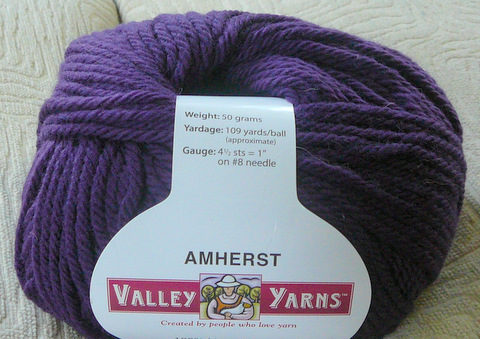 Valley Yarns Amherst plum