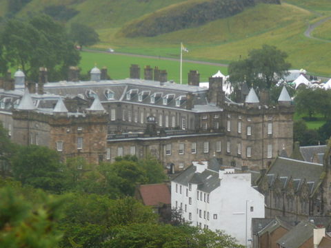 Holyrood Palace from Calton Hill