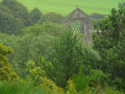Holyrood Abbey from Calton Hill