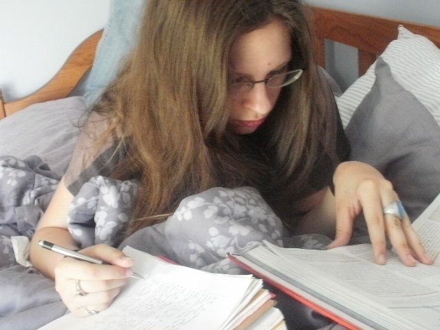 Caitlin and books
