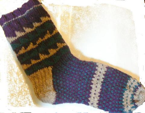 Sawtooth sock 1