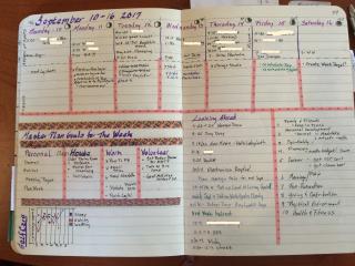 2 page week master plan